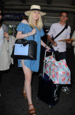 DAKOTA FANNING Arrives at Airport in Nice 05/11/2015