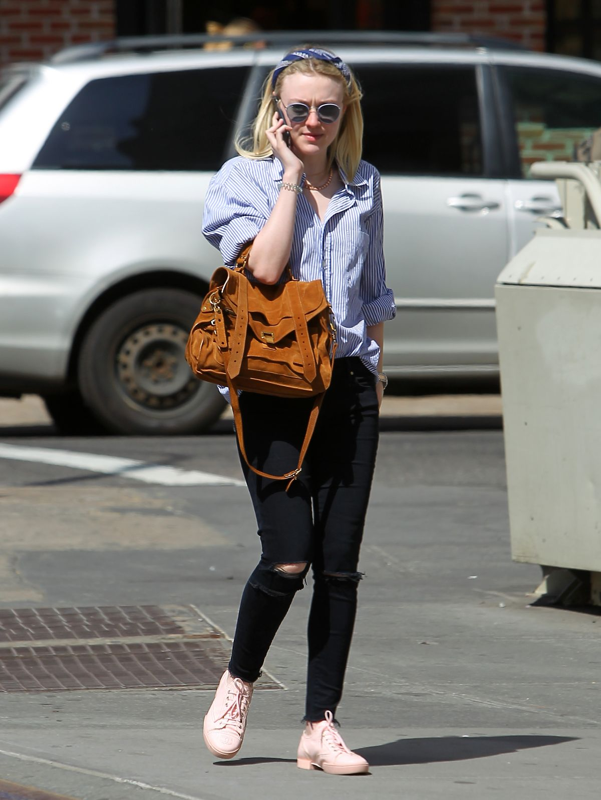 DAKOTA FANNING Out and About in New York 04/30/2015