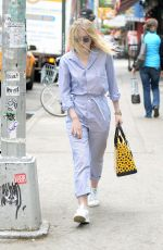 DAKOTA FANNING Out and About in New York 05/21/2015