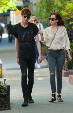 DAKOTA JOHNSON and Matthew Hitt Out in New York 05/07/2015