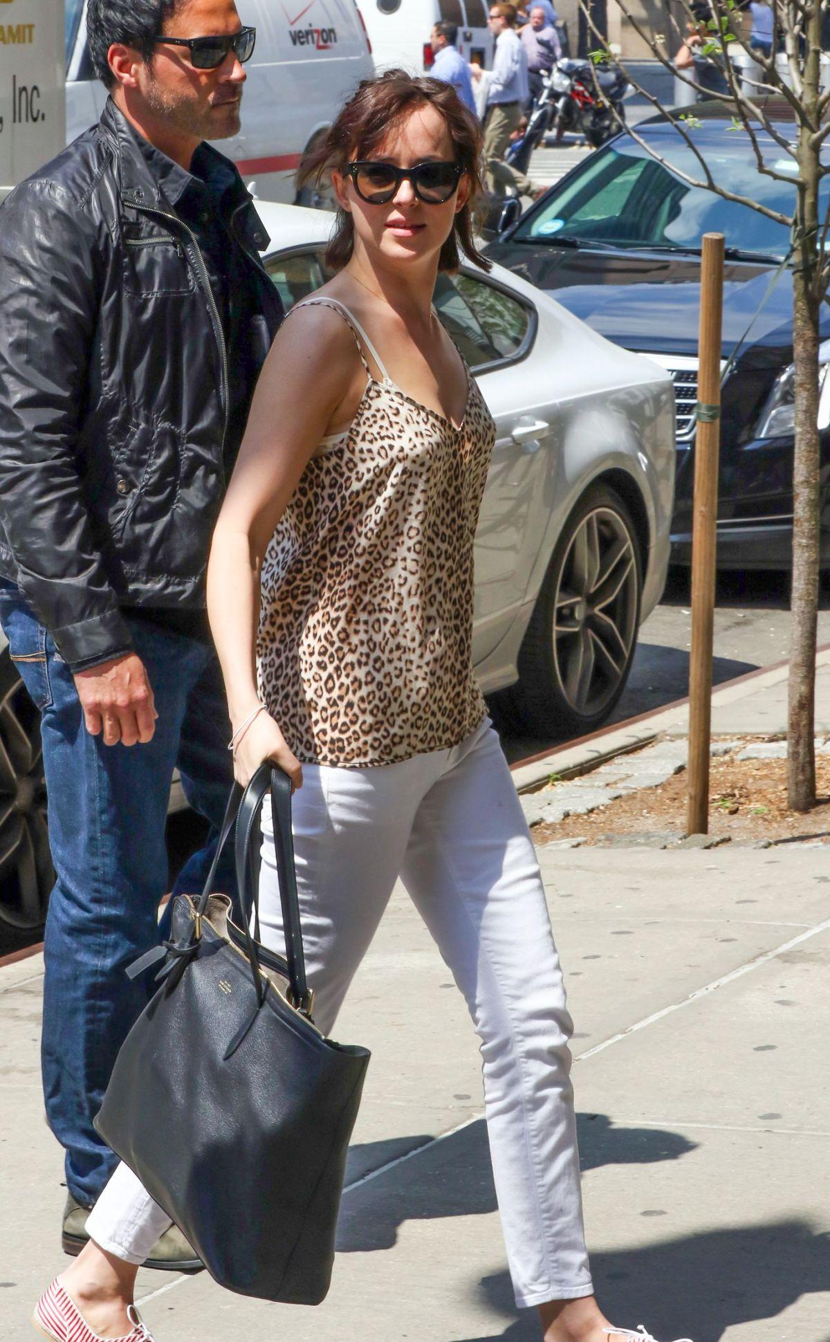 Dakota Johnson Arrives At How To Be Single Set In New York