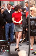 DAKOTA JOHNSON on the Set of How to be Single at Bloomingdales Store 05/18/2015