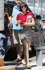 DAKOTA JOHNSON on the Set of How to be Single in Downtown Manhattan 05/27/2015