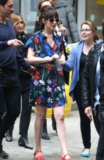 DAKOTA JOHNSON on the Set of How to be Single in New York 05/18/2015
