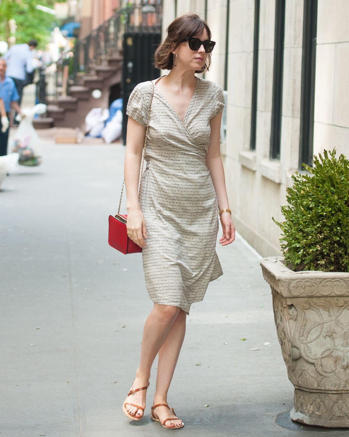 DAKOTA JOHNSON Out in New York 05/17/2015