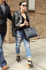 DEMI LOVATO in Ripped Jeans Out in New York 05/27/2015