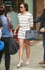 DEMI LOVATO Leaves Greenwich Hotel in New York 05/28/2015