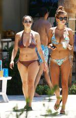 DEVIN BURGMAN and NATSHA OAKLEY in Bikinis at a Pool in Miami 05/07/2015