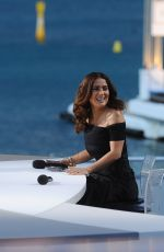 DIANE KRUGER and SALMA HAYEK at Canal Plus TV Station in Cannes