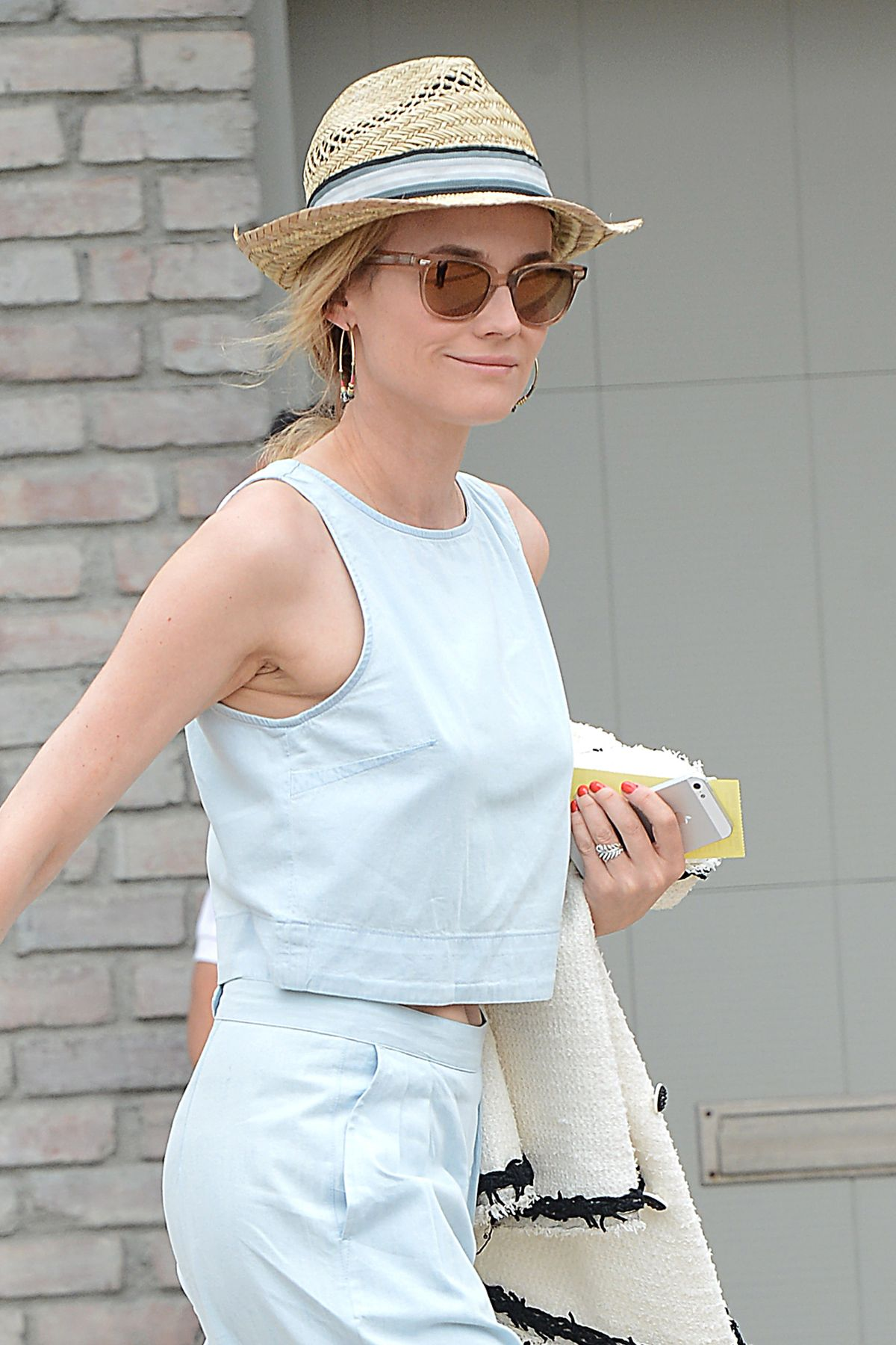 DIANE KRUGER at Joel Silvers Memorial Day Party in Los Angeles