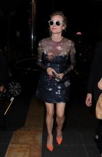 DIANE KRUGER Leaves Tetou Restaurant in Cannes