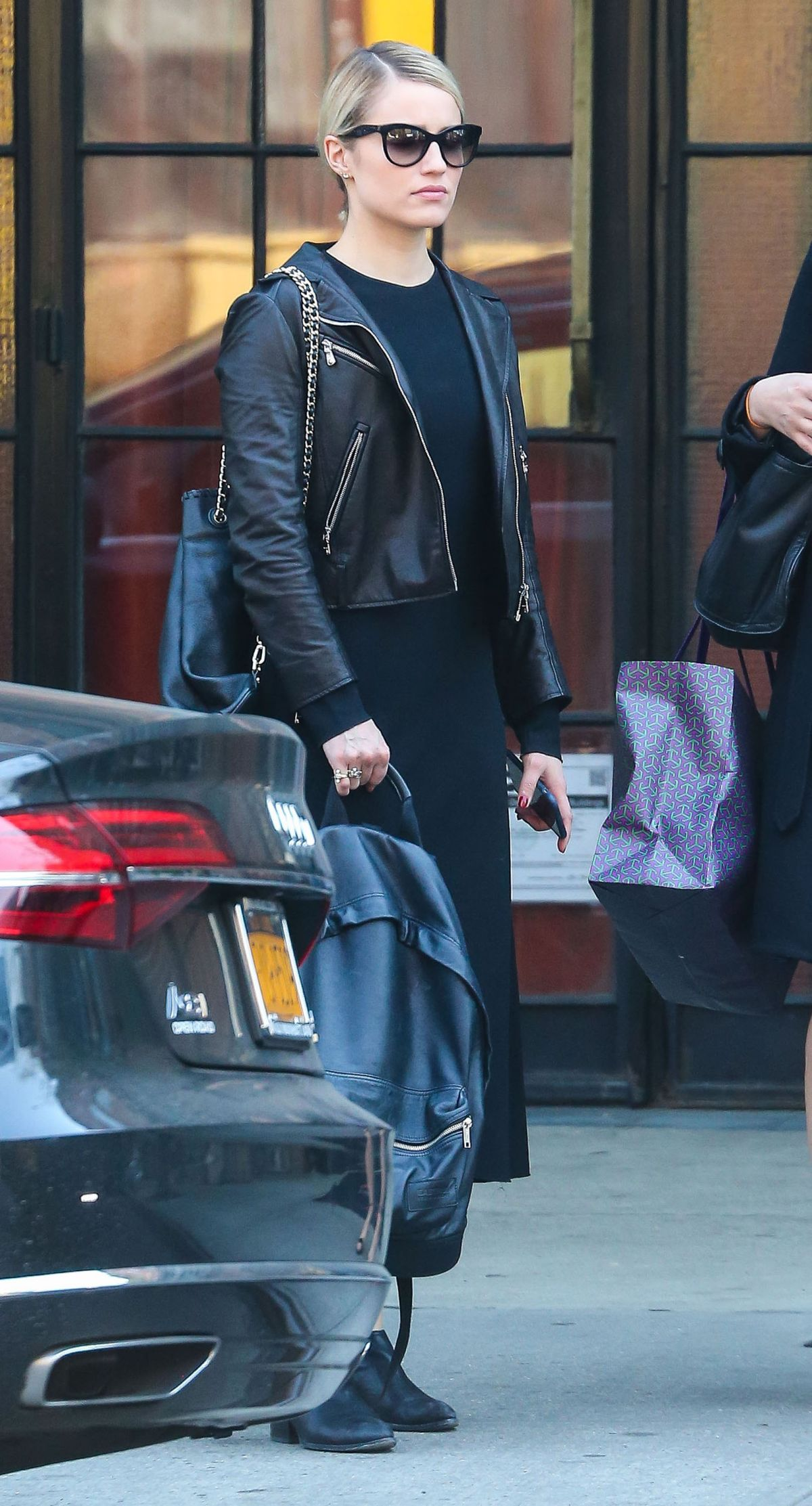 DIANNA AGRON Leaves Bowery Hotel in New York 05/04/2015