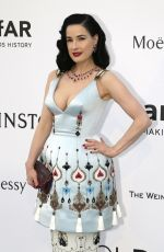 DITA VON TEESE at Amfar's 2015 Cinema Against Aids Gala in Cap d'Antibes
