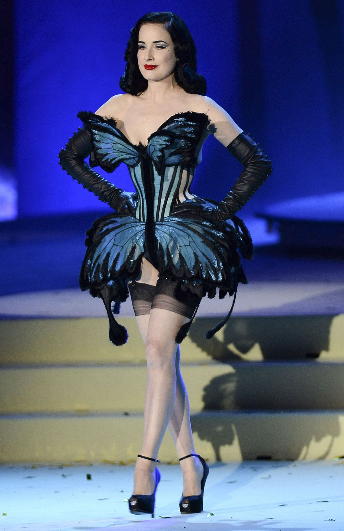 DITA VON TEESE at Llife Ball 2015 in Vienna