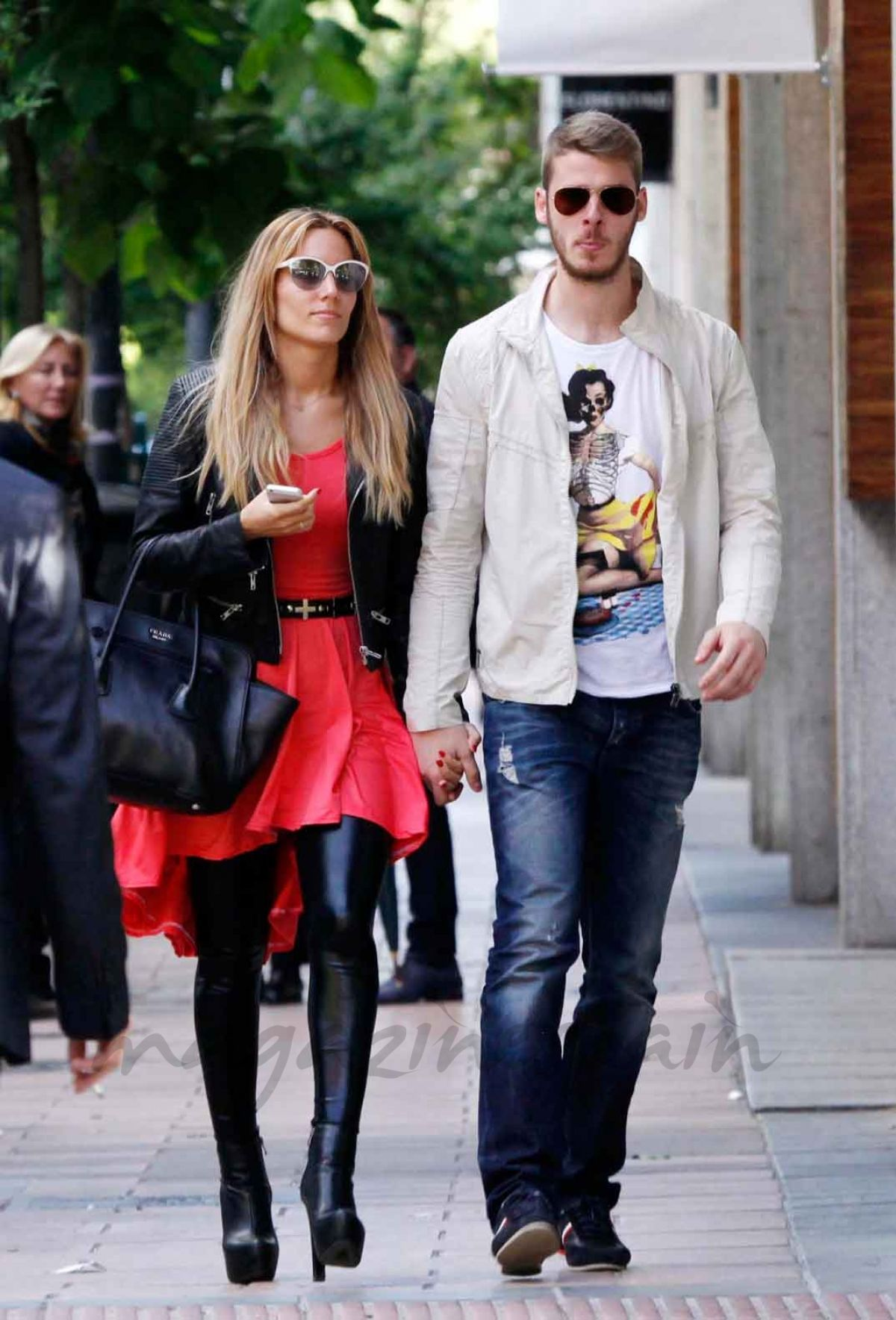 EDURNE and David De Gea Out in Madrid