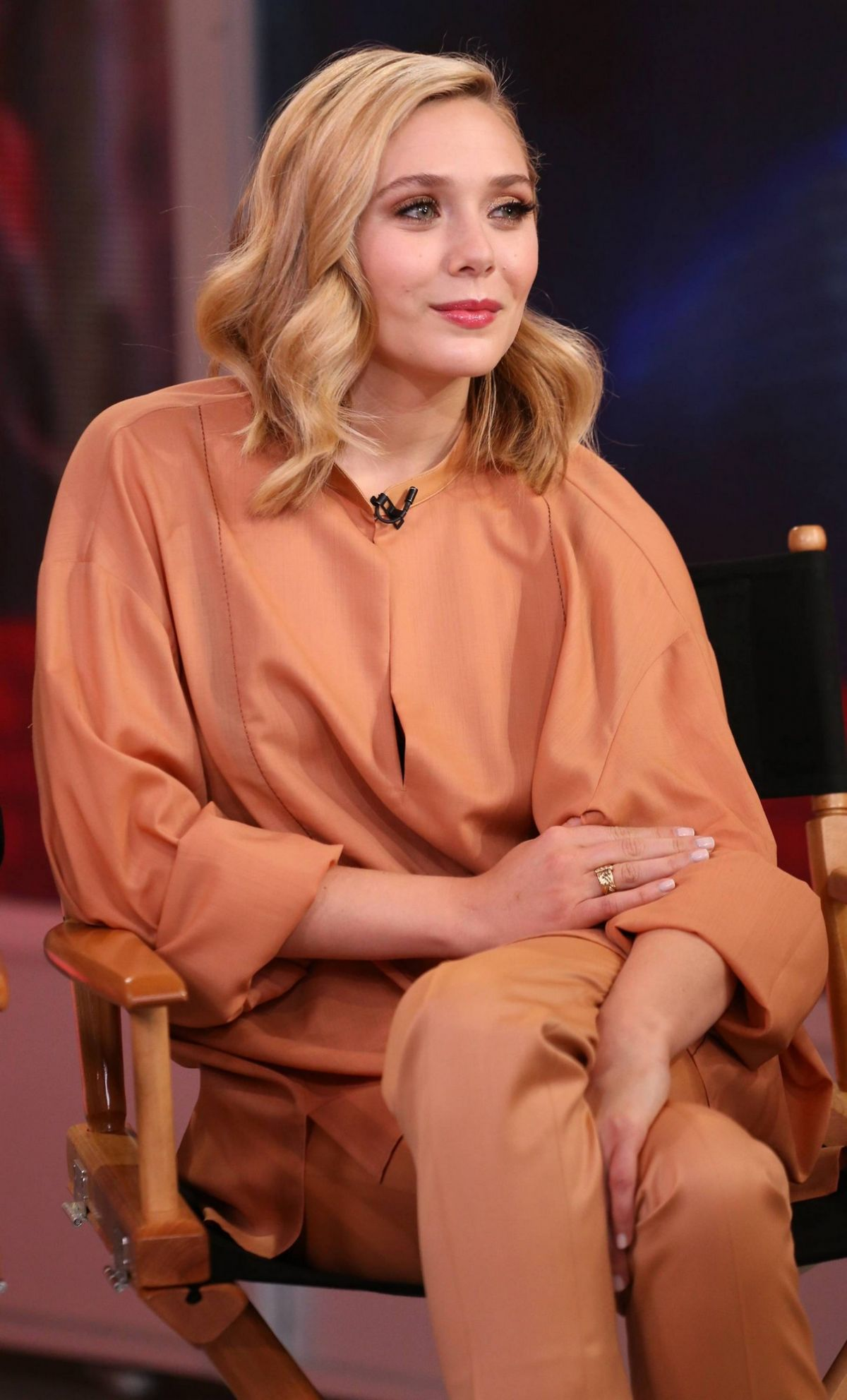 ELIZABETH OLSEN at Good Morning America in New York 05/01/2015