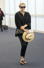 ELIZABETH OLSEN at JFK Airport in New York 04/29/2015