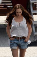 ELIZABETH OLSEN on the Set of Captain America: Civil War in Atlanta 05/19/2015