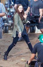 ELIZABETH OLSEN on the Set of Captain America: Civil War in Atlanta 05/20/2015