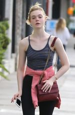 ELLE FANNING in Tights Out in Studio City 05/18/2015