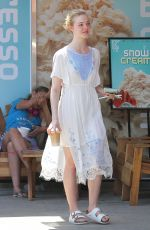 ELLE FANNING Out and About in Los Angeles 05/03/2015