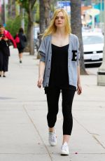 ELLE FANNING Out and About in Studio City 05/22/2015