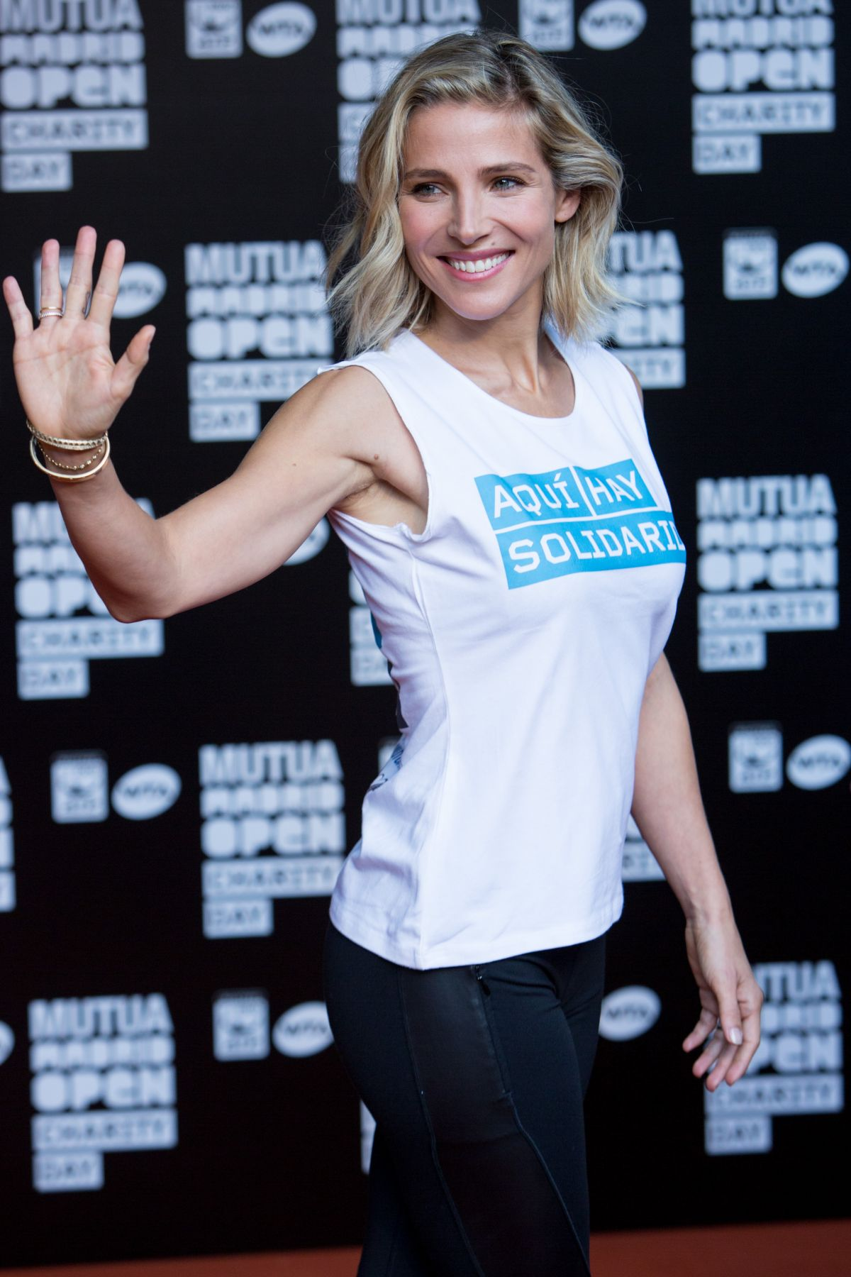 ELSA PATAKY at Charity Day Tennis Tournament in Madrid