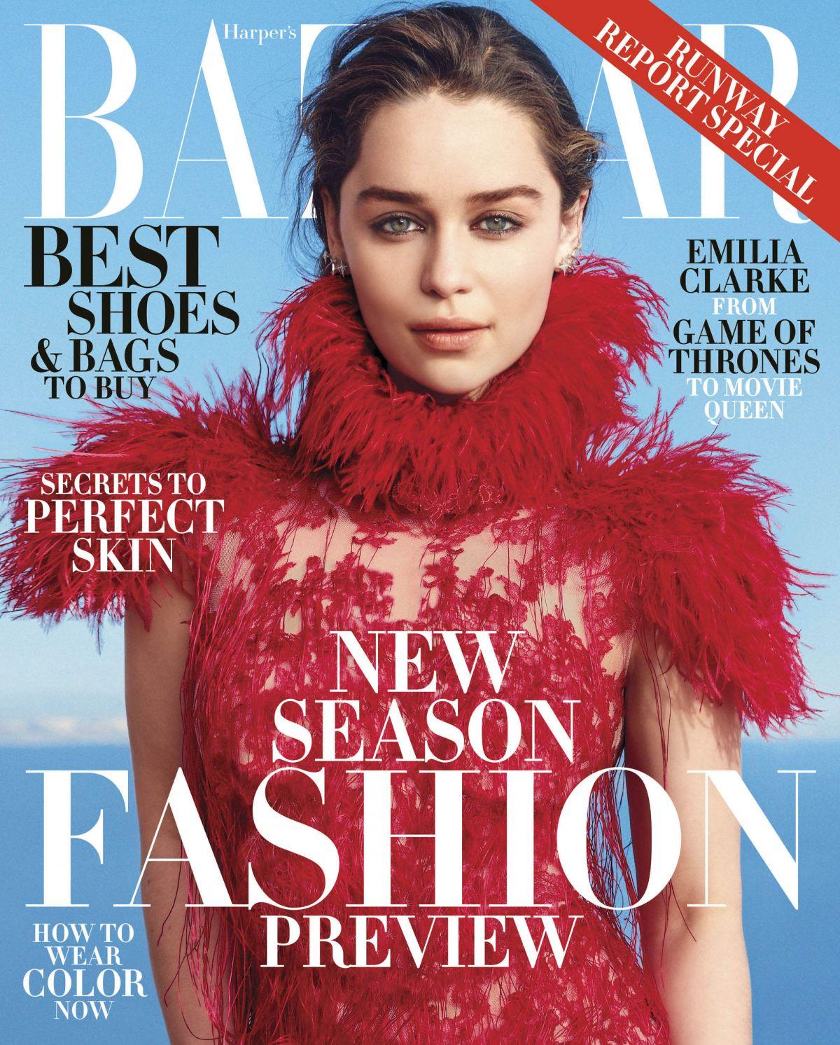 EMILIA CLARKE in Harper's Bazaar Magazine, June 2015 Issue ...