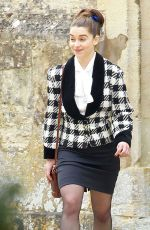 EMILIA CLARKE on the Set of Me Before You in Oxford 04/26/2015