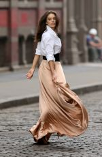 EMILY DIDONATO on the Set of Maybelline Commercial in New York 05/11/2015