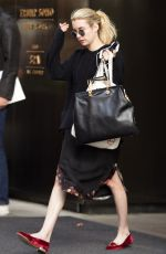 EMMA ROBERTS Leaves Her Hotel in New York 05/15/2015
