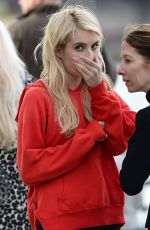 EMMA ROBERTS on the Set of Nerve 01/05/2015
