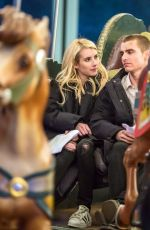 EMMA ROBERTS on the Set of Nerve in New York 01/05/2015