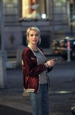 EMMA ROBERTS on the Set of Nerve in New York 05/20/2015