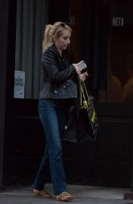 EMMA ROBERTS Out and About in Soho 05/21/2015