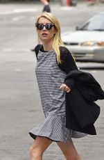 EMMA ROBERTS Out and About in Tribeca 05/10/2015