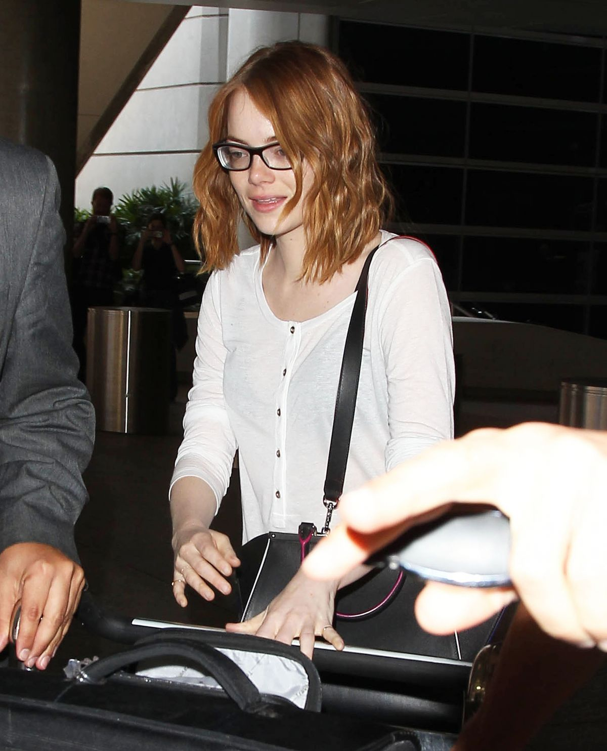 EMMA STONE Arrives at Los Angeles International Airport 05/18/2015