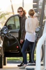 EMMA STONE at a Gas Station in Los Angeles 05/27/2015