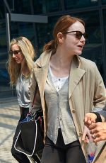 EMMA STONE at Heathrow Airport in London 05/16/2015
