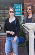 EMMA STONE Leaves Cafe Gratitude in Venice 05/25/2015