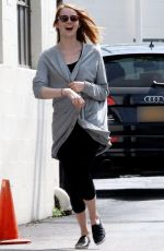 EMMA STONE Leaves The Jonathan and George Salon in Beverly Hills 05/26/2015