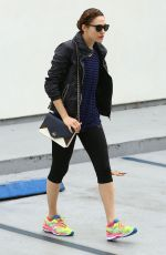 EMMY ROSSUM in Leggings Leaves a Gym in West Hollywood