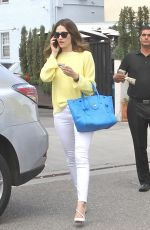 EMMY ROSSUM Leaves Il Pastaio Restaurant in Los Angeles 05/22/2015