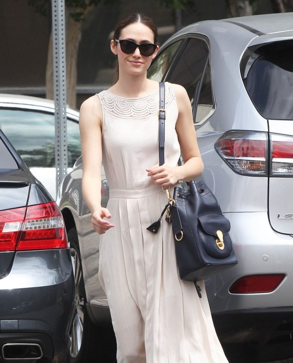 EMMY ROSSUM Out and About in Tarzana 05/04/2015