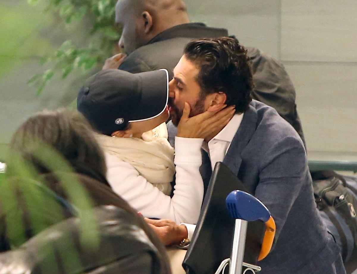EVA LONGORIA and Jose Antonio Baston at Airport in Paris