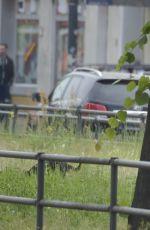 EVA PADBERG Walks Her Dog Out in Berlin 05/28/2015
