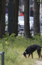 EVA PADBERG Walks Her Dog Out in Berlin 05/28/2015