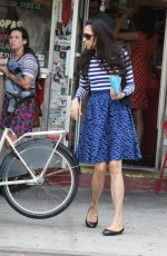 FAMKE JANSSEN Out and About in Soho 05/24/2015