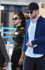 FKA TWIGS and Robert Pattinson at JFK Airport in New York 05/03/2015