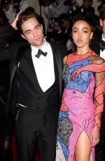 FKA TWIGS and Robert Pattinson at MET Gala 2015 in New York